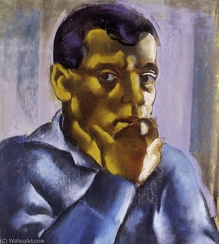 Self Portrait by David Jandi (1893-1944, Hungary) | Oil Painting | ArtsDot.com