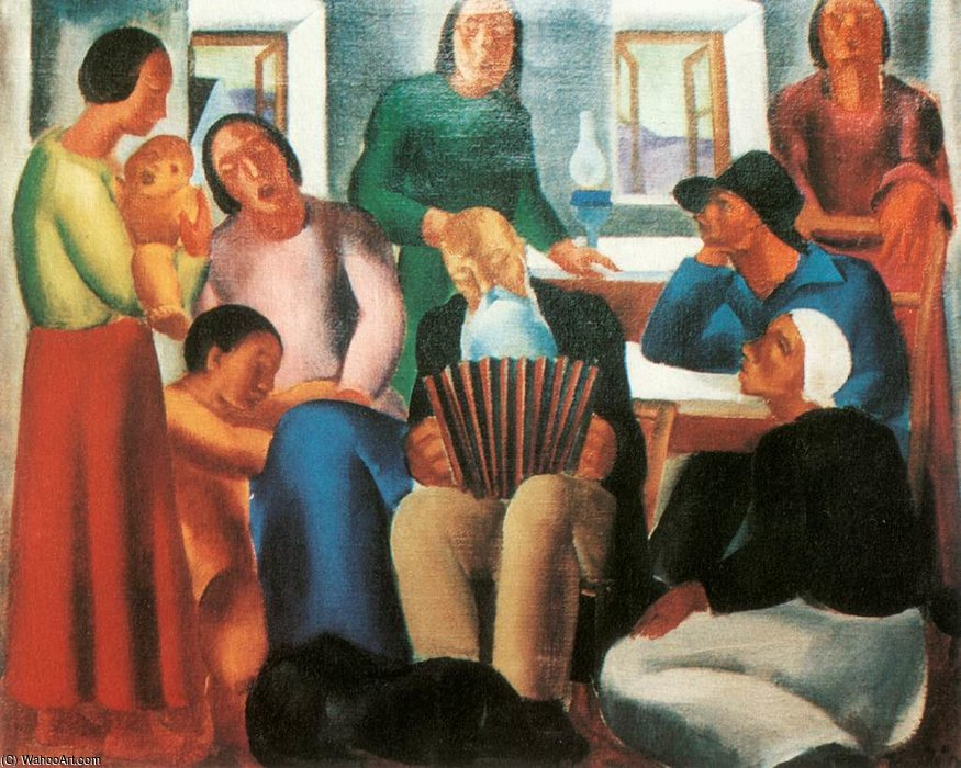 Singing Family by David Jandi (1893-1944, Hungary) | ArtsDot.com