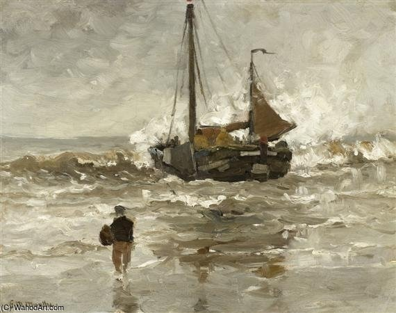 At The Sea Shore by Gerhard Arij Ludwig Morgenstje Munthe (1875-1927, Belgium)