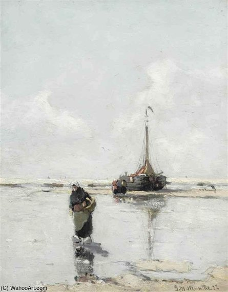 On The Beach by Gerhard Arij Ludwig Morgenstje Munthe (1875-1927, Belgium)