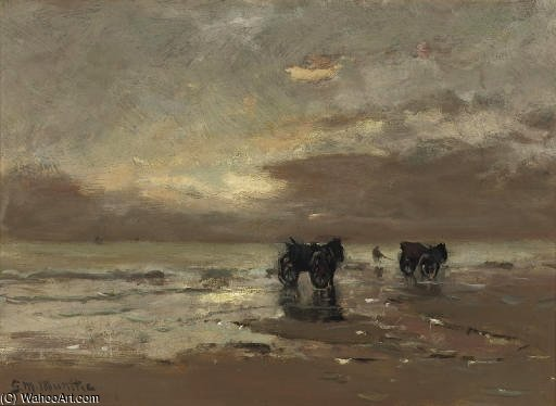 Shell-fishers On The Beach by Gerhard Arij Ludwig Morgenstje Munthe (1875-1927, Belgium)