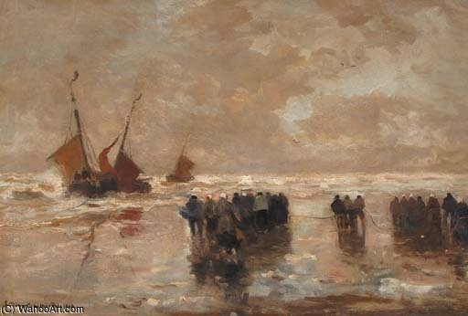 The Arrival Of The Fleet by Gerhard Arij Ludwig Morgenstje Munthe (1875-1927, Belgium)