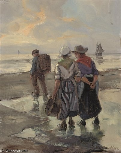Waiting For The Catch by Gerhard Arij Ludwig Morgenstje Munthe (1875-1927, Belgium)