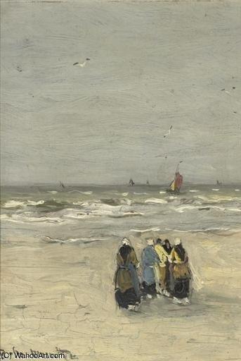 Women At The Beach by Gerhard Arij Ludwig Morgenstje Munthe (1875-1927, Belgium)
