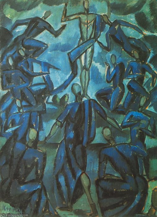 Ascension by Janos Kmetty (1889-1975, Hungary)