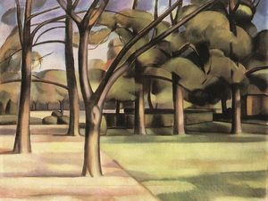 Janos Kmetty - Trees (view Of The City Garden..