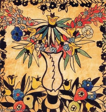 Design For Ady Cushion Ii by Gulacsy Lajos Kalman (1882-1932, Hungary) | Art Reproduction | ArtsDot.com