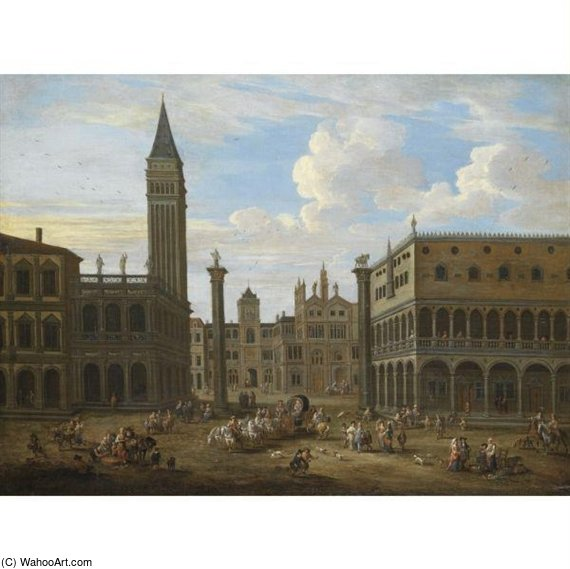 Venice, A Capriccio View Of Saint Mark's Square by Mathys Schoevaerdts (1665-1710, Belgium) | ArtsDot.com
