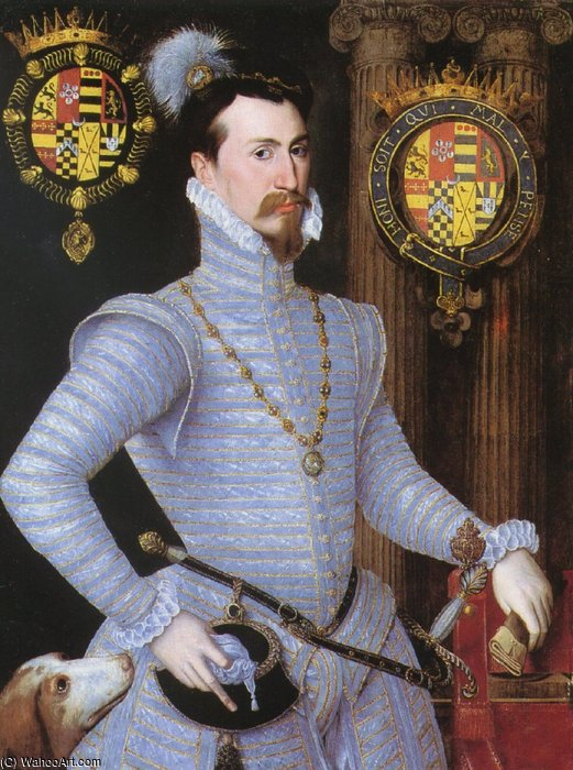Earl Of Leicester. by Robert Dudley (1826-1909, United Kingdom)