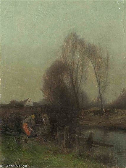 Evening Time by Roman Kochanowski  (order Fine Art Print on canvas Roman Kochanowski)