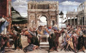 Sandro Botticelli - The Punishment of Korah