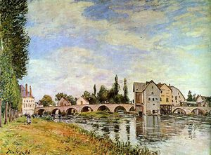 Alfred Sisley - Bridge of Moret Sun