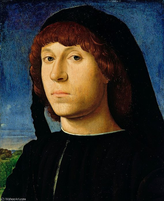 Portrait of a Young Man by Antonello Di Giovanni Di Antonio (Antonello Da Messina) (1430-1479, Italy) | ArtsDot.com
