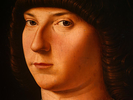 Portrait of a Young Man by Antonello Di Giovanni Di Antonio (Antonello Da Messina) (1430-1479, Italy) | Museum Art Reproductions | ArtsDot.com