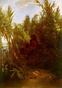 Arnold Bocklin - Pan Amongst the Reeds