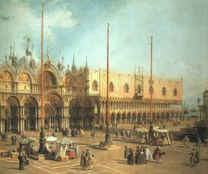 Giovanni Antonio Canal (Canaletto) - piazza san marco looking southeast