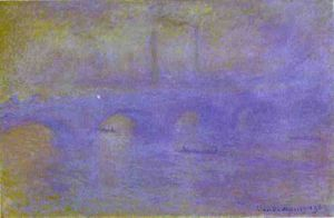 Claude Monet - the waterloo bridge. the fog