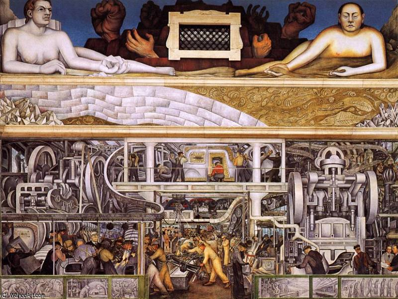 detroit industry, 1933 by Diego Rivera (1886-1957, Mexico)