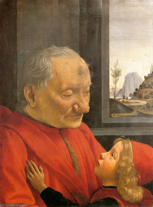 an old man and his grandson by Domenico Ghirlandaio (1449-1494, Italy)