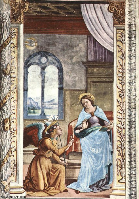 annunciation by Domenico Ghirlandaio (1449-1494, Italy)