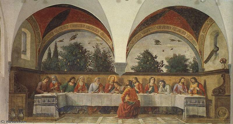 the last supper by Domenico Ghirlandaio (1449-1494, Italy)