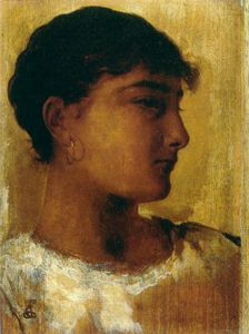 Edwin Longsden Long - Study of a young girls head another view