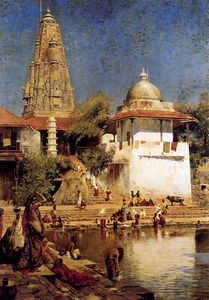 Edwin Lord Weeks - the temple and tank of wa..
