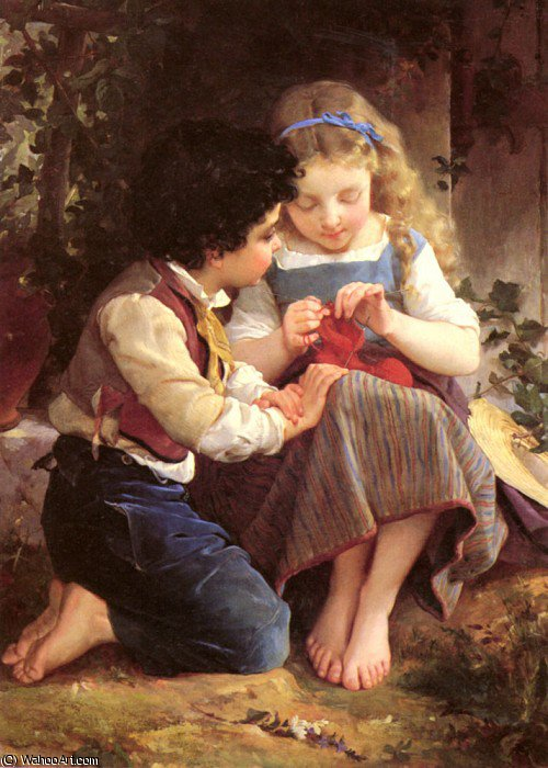 a special moment by Emile Munier (1840-1895, France) | Art Reproduction | ArtsDot.com
