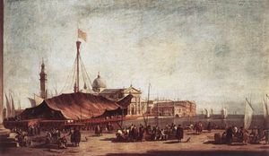 Francesco Lazzaro Guardi - The Piazzetta Looking tow..