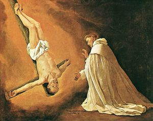 Francisco Zurbaran - The Apparition of Apostle..