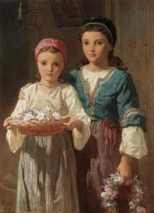 Frederick Goodall - flower girls