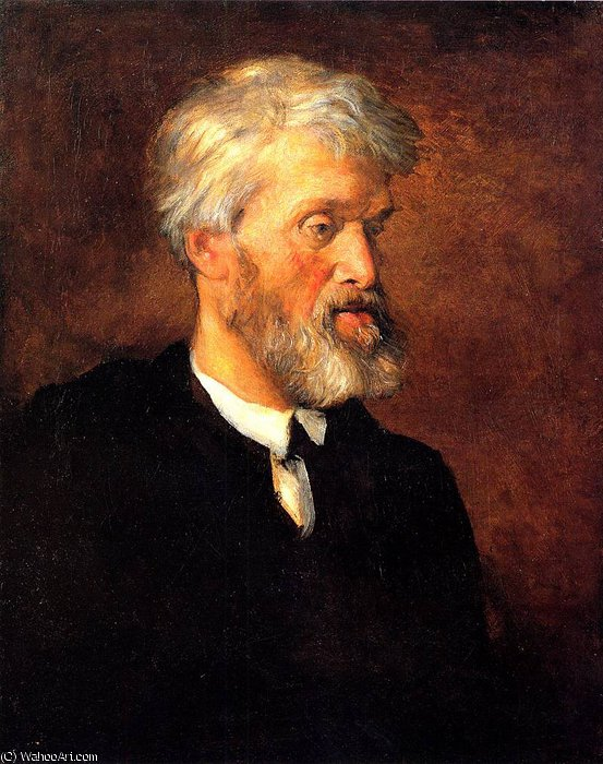 Portrait of Thomas Carlyle by Frederick Waters (William) Watts (1800-1870, United Kingdom)