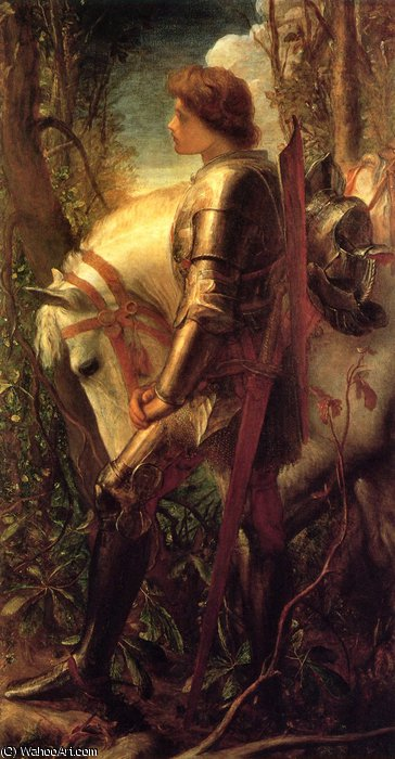 sir galahad by Frederick Waters Watts (1800-1870, United Kingdom)