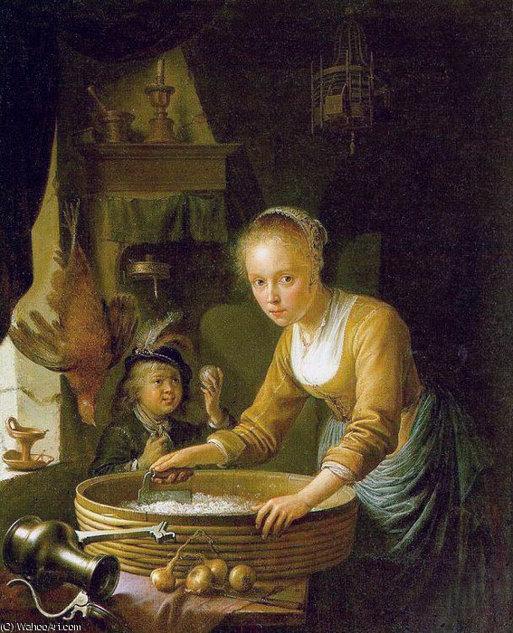 onions by Gerrit Dou