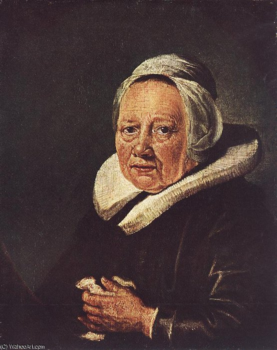 Portrait of an Old Woman by Gerrit (Gérard) Dou (1613-1675, Netherlands)