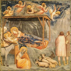 Giotto Di Bondone - Nativity Birth of Jesus