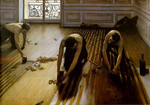 Gustave Caillebotte - floor strippers
