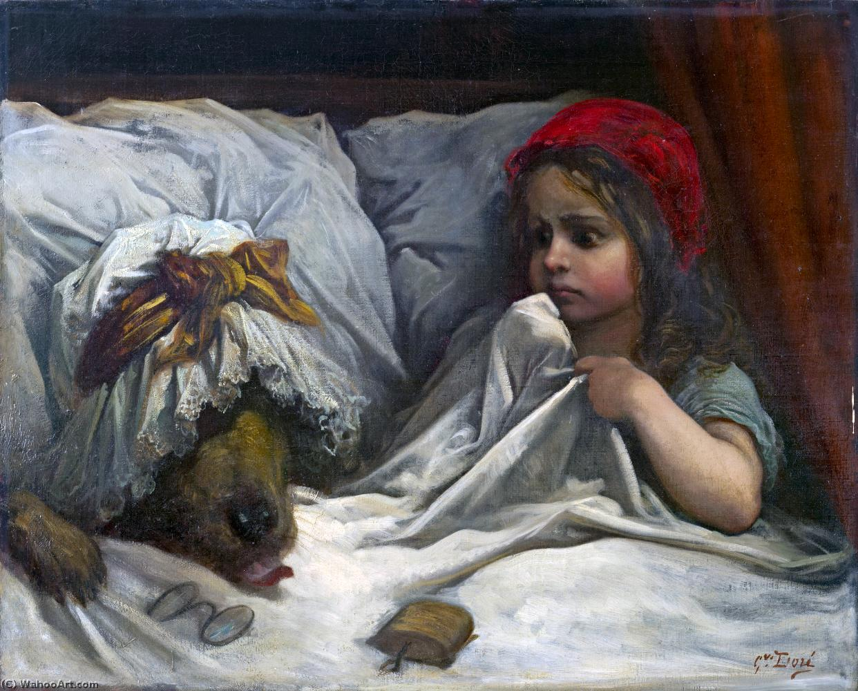 Buy Museum Art Reproductions | Little red riding hood by Paul Gustave Doré (1832-1883, France) | ArtsDot.com