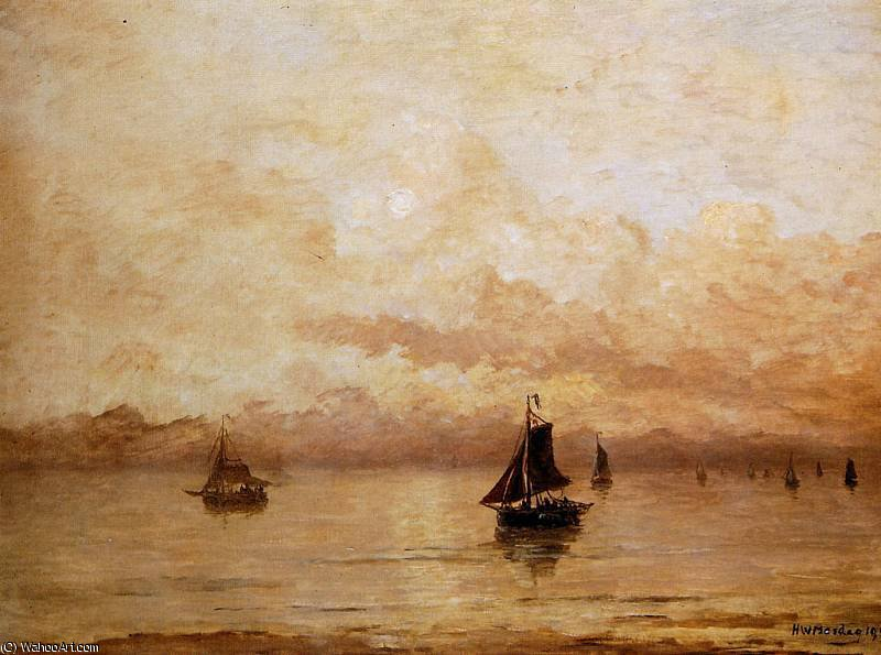 morning sun by Hendrik Willem Mesdag (1831-1915, Netherlands)