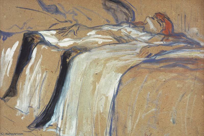 alone seule, 1896 by Henri De Toulouse Lautrec (1864-1901, France)