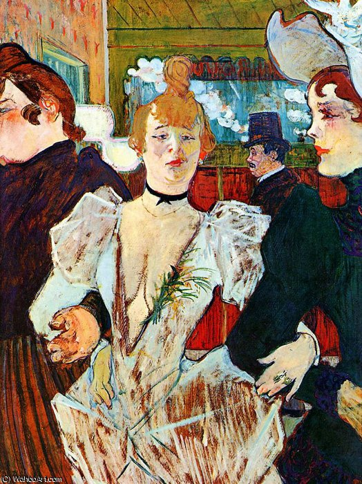entering moulin rouge sun by Henri De Toulouse Lautrec (1864-1901, France)