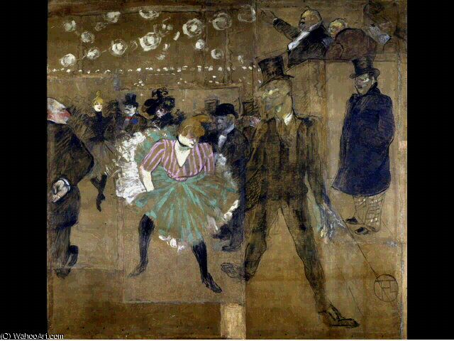 La danse au Moulin Rouge - -, 1895 by Henri De Toulouse Lautrec (1864-1901, France)