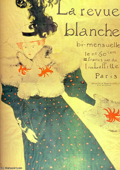 La Revue Blanche - chalk lithography -, 1895 by Henri De Toulouse Lautrec (1864-1901, France)