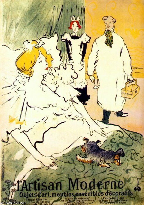 lartisan moderne, 1894 by Henri De Toulouse Lautrec (1864-1901, France)