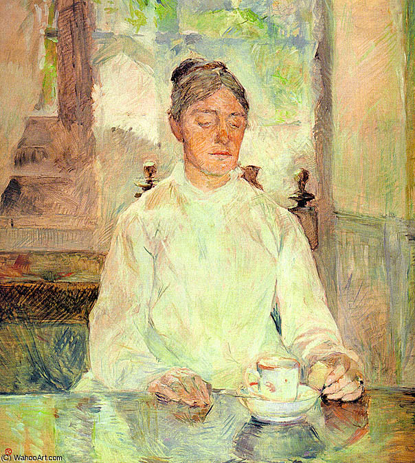 Portrait of Comtesse Adele-Zoe de Toulouse by Henri De Toulouse Lautrec (1864-1901, France)