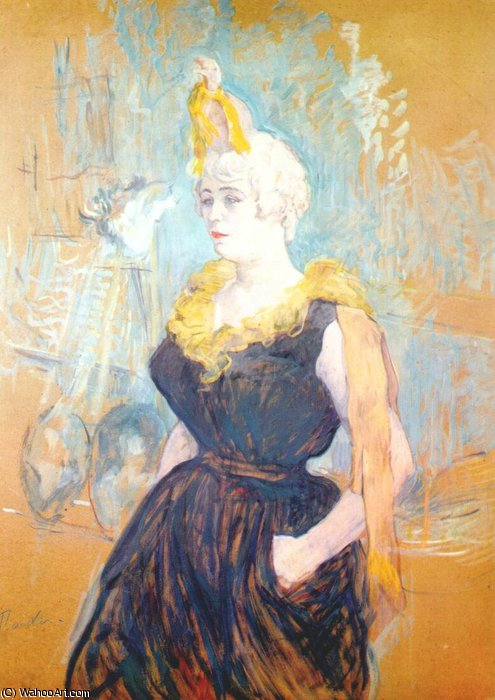 the clownesse cha-u-kao, 1895 by Henri De Toulouse Lautrec (1864-1901, France)