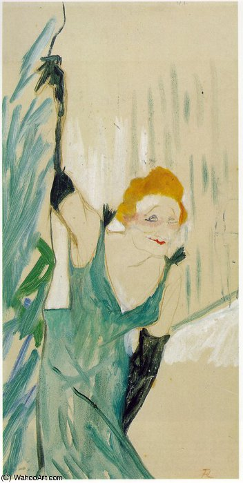 Yvette Guilbert Greeting the Audience, 1894 by Henri De Toulouse Lautrec (1864-1901, France)