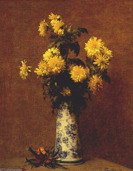 chrysanthemums, 1879 by Henri Fantin Latour (1836-1904, France)