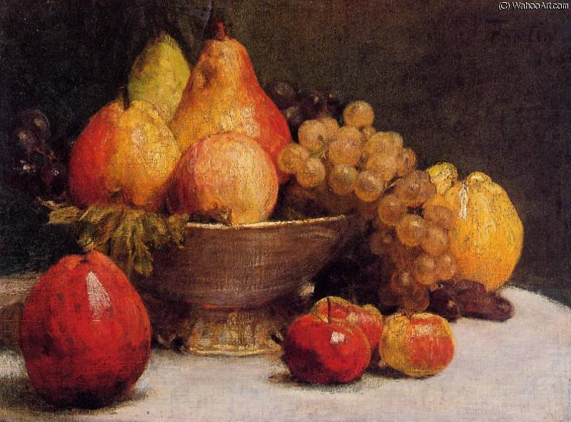 Bowl of Fruit by Henri Fantin Latour (1836-1904, France)