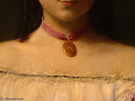 Mademoiselle de Fitz James (detail 3) -, 1867 by Henri Fantin Latour (1836-1904, France)